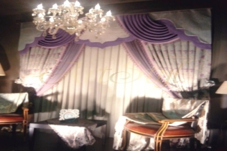 dekoracja okna Violetta